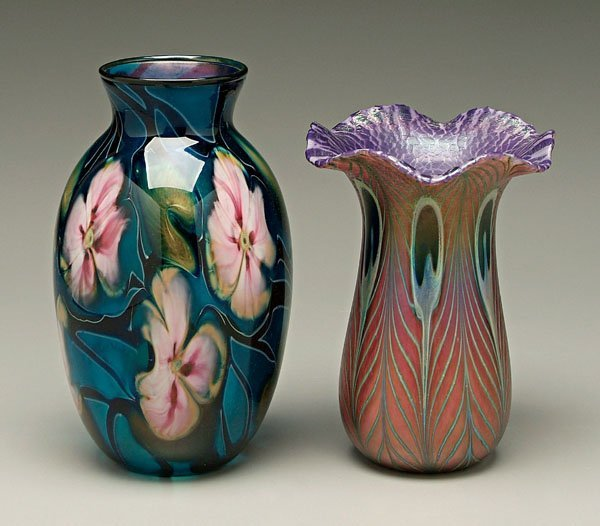 955: Two Charles Lotton vases:
