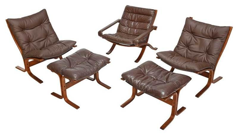 Modern Bentwood and Leather Upholstered Suite