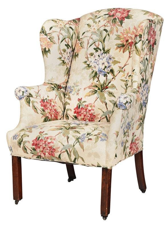 Chippendale Mahogany Upholstered Easy Chair