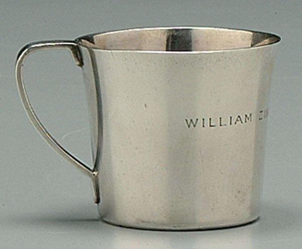 1: Tiffany sterling child's mug,