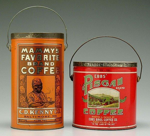 7: Two coffee tins: