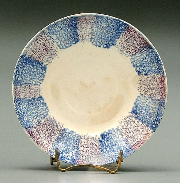8: Spatter ware saucer or shallow bowl,