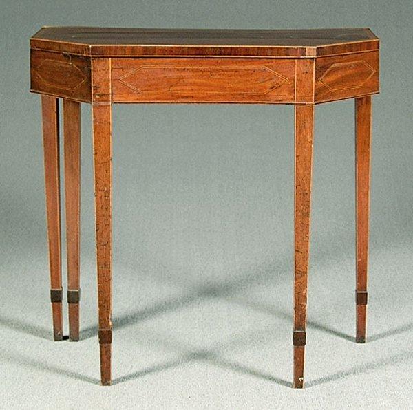 0014A: Inlaid mahogany games table,