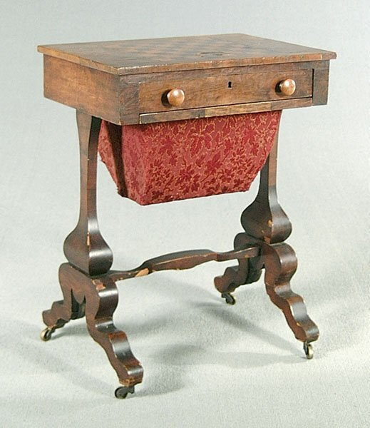 15: English Inlaid mahogany stand,