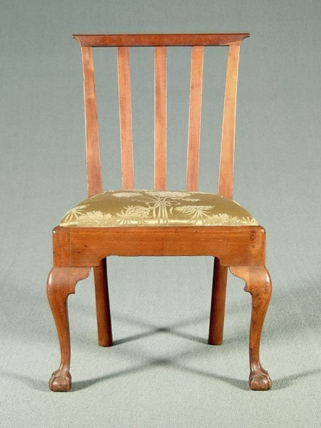 18: American Chippendale side chair,