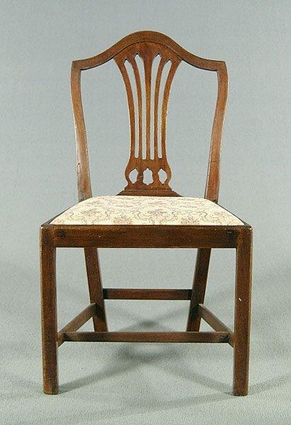 20: English mahogany side chair,