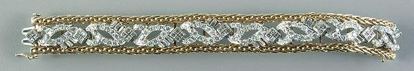0281B: Diamond and platinum bracelet,