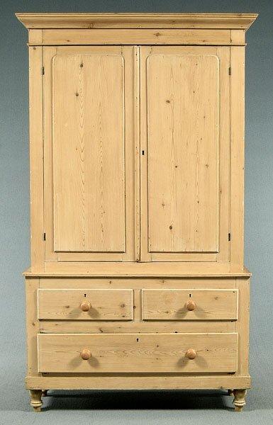 603: Two-piece English cupboard,