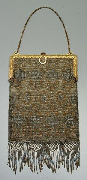 604: Cut steel mesh purse,