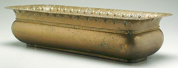 605: Rectangular copper planter,