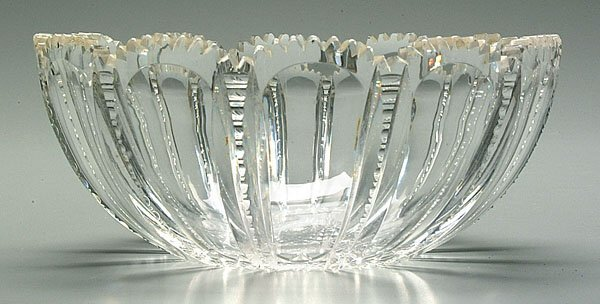 616: Cut glass bowl,