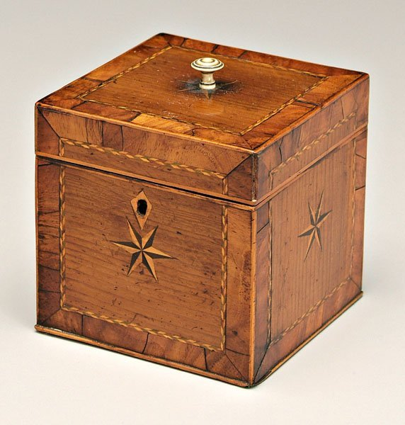 7: Finely inlaid tea box,