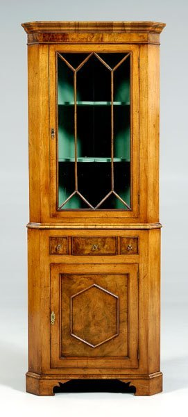 15: Chippendale style corner cabinet,
