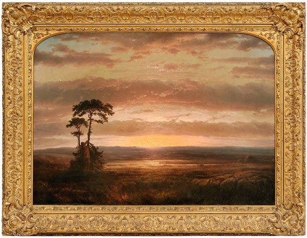 298: Louis Remy Mignot painting