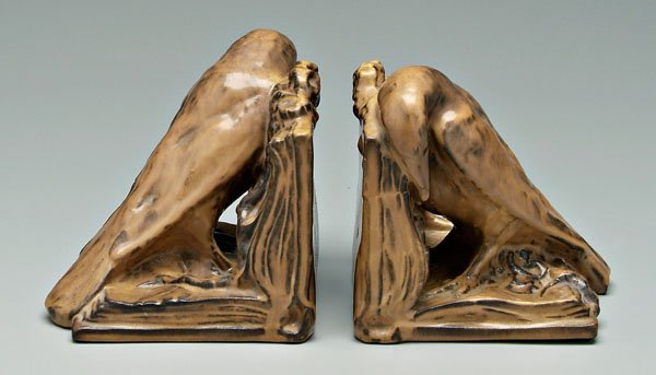 574: Pair Rookwood rook bookends: