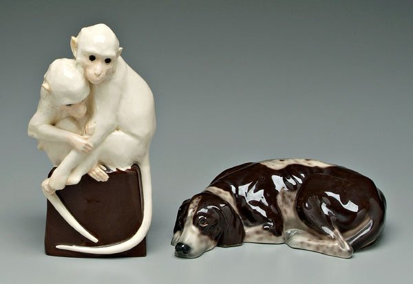 579: Vienna ceramic dog, monkeys: