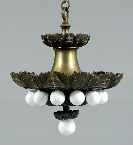580: E.F. Caldwell two-tier chandelier,