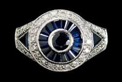 905: Sapphire, diamond ring,