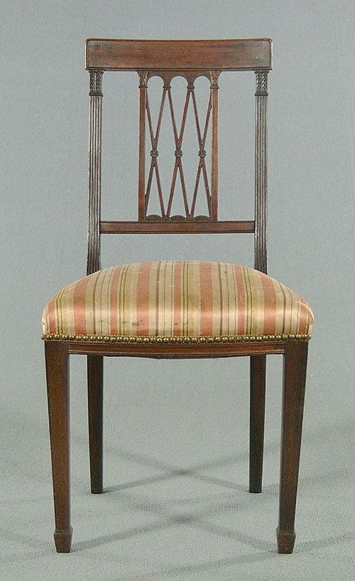 603: Mahogany side chair, Hepplewhite style,
