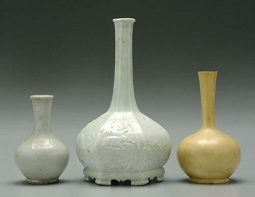 613: Three ceramic vases, two Chinese