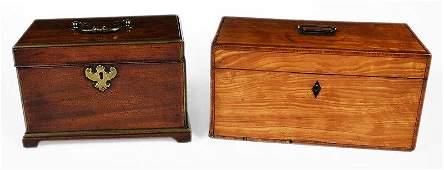 Two George III Tea Caddies