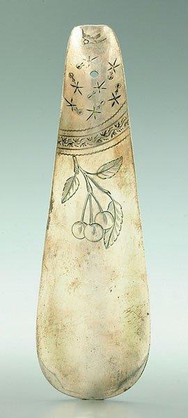 1: Sterling silver shoe horn,