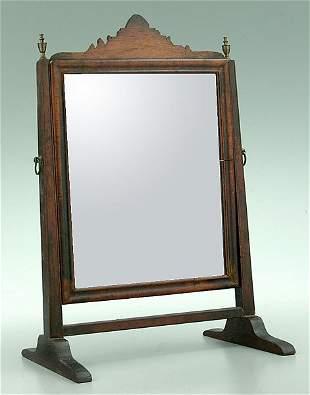 Mahogany dressing mirror,