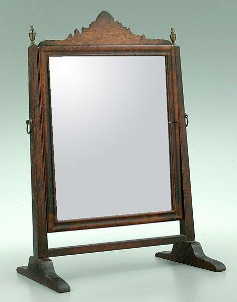 2: Mahogany dressing mirror,