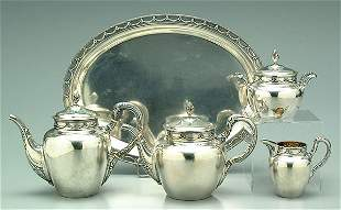 German tea service, .800 silver,