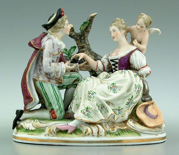 10: Porcelain figural group,