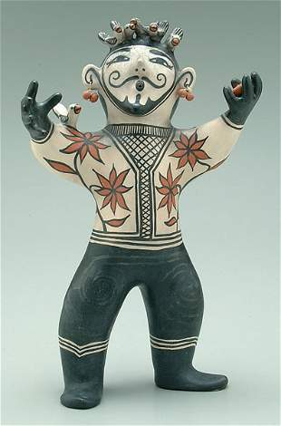 Pueblo pottery bird charmer,
