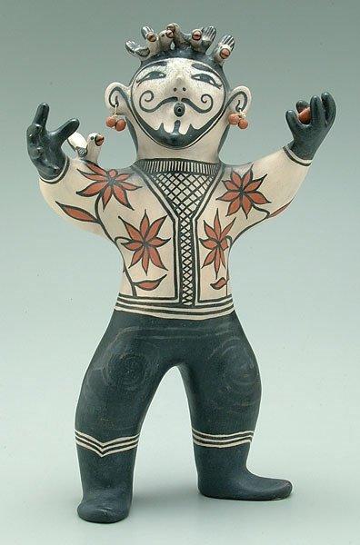 16: Pueblo pottery bird charmer,