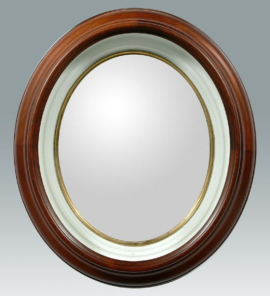 23: Mirror with shadowbox frame,