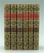 449: Six leather-bound books: