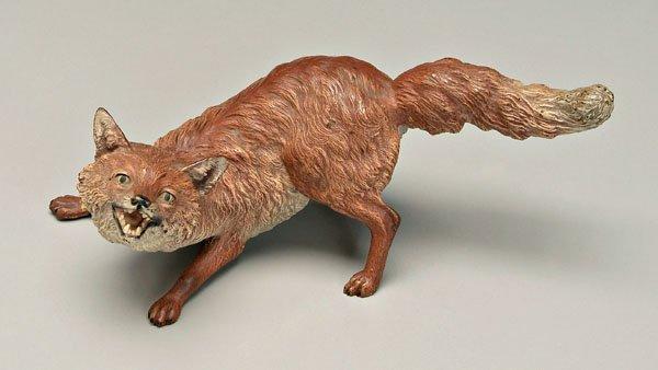 4: Bergmann Vienna bronze crouching fox,