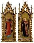 Pair Italian paintings