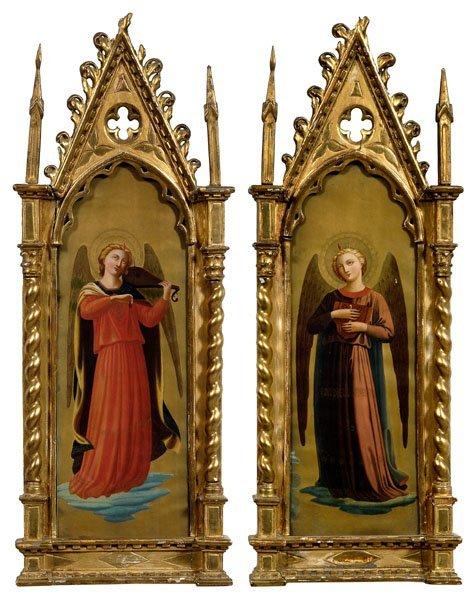 9: Pair Italian paintings: