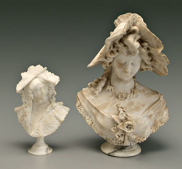 11: Two Cipriani alabaster sculptures: