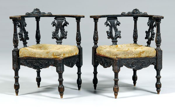12: Pair baroque style carved corner
