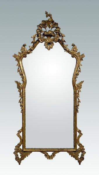 14: Italian rococo style gilt wood mirror,