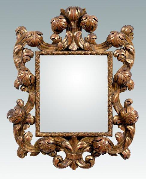 24: Baroque style gilt wood mirror,