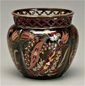 388: Zsolnay art pottery vase,