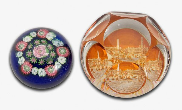 18: Two paperweights: