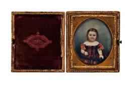 214 Miniature portrait of child