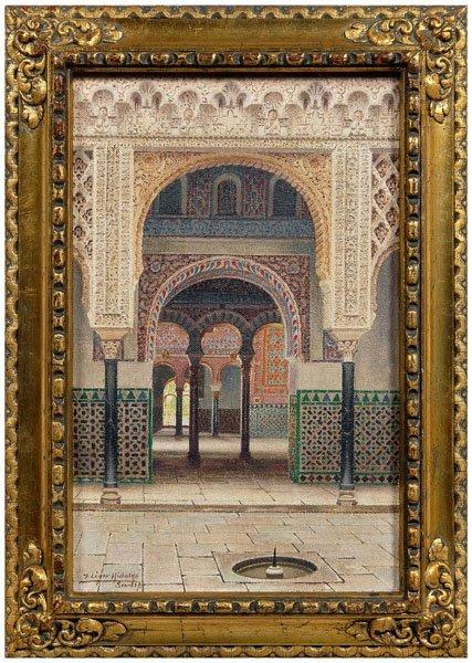 689: F. Liger Hidalgo Orientalist painting