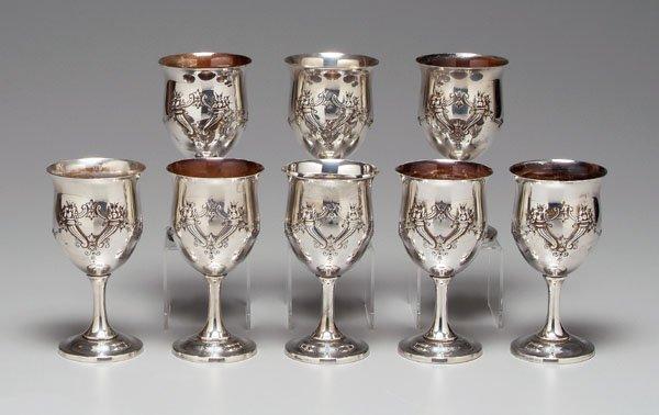 1: Francis I sterling goblets: