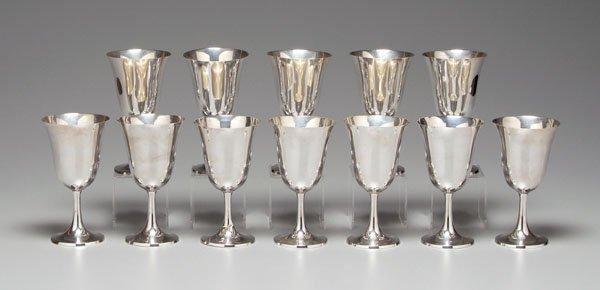 2: Set of 12 sterling goblets: