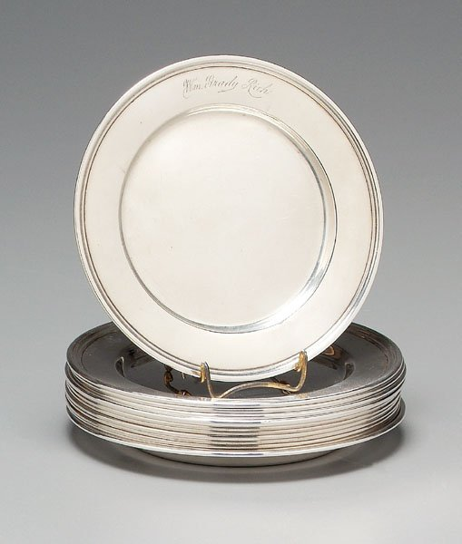 3: Twelve sterling plates: