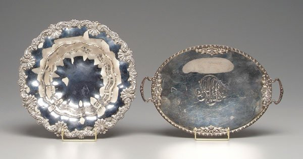 6: Sterling silver bowl and tray: