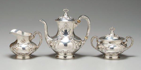 10: Sterling tea service,